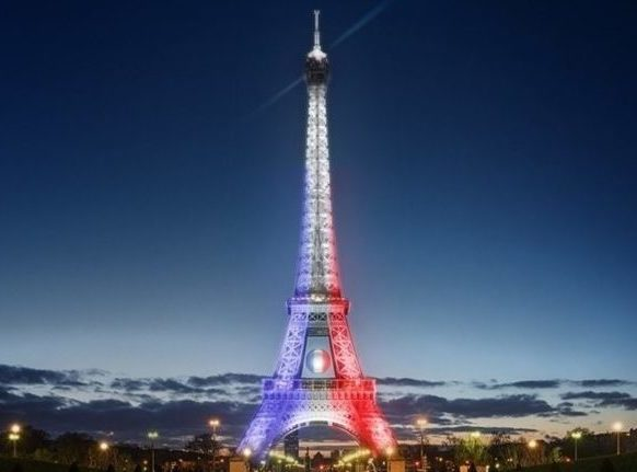 Uefa Eiffel tower Mapping